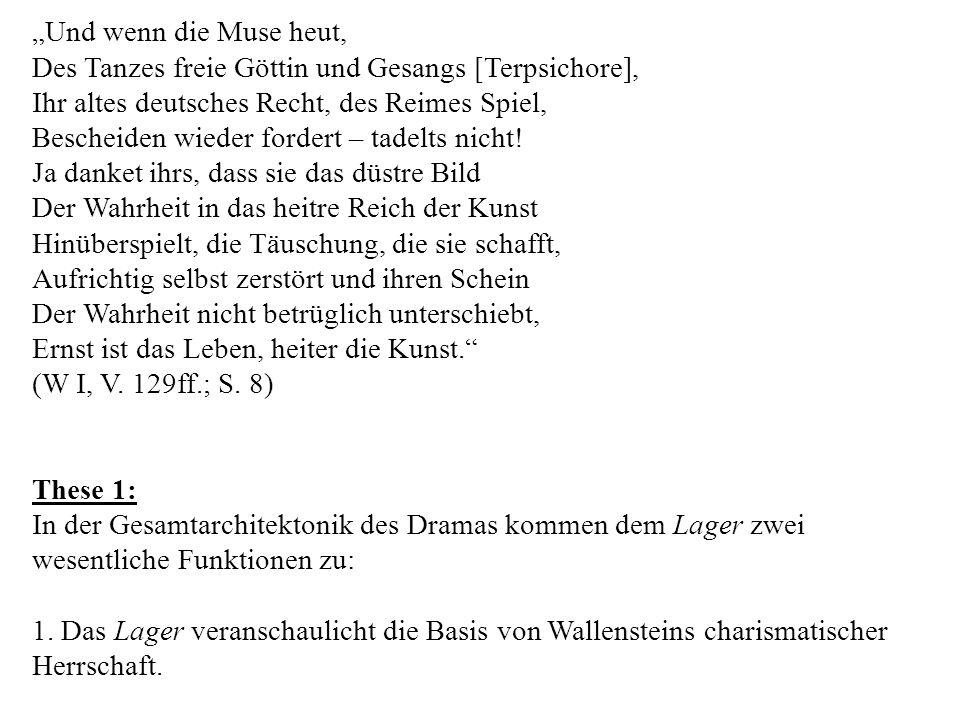 Und wenn die Muse heut, Des Tanzes freie Göttin und Gesangs [Terpsichore], Ihr altes deutsches Recht, des Reimes Spiel, Bescheiden wieder fordert – tadelts nicht.