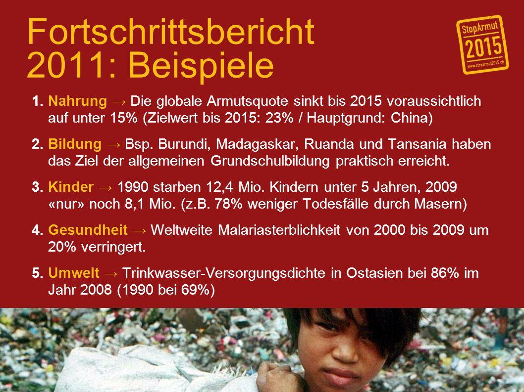 Fortschrittsbericht 2011: Beispiele 1.