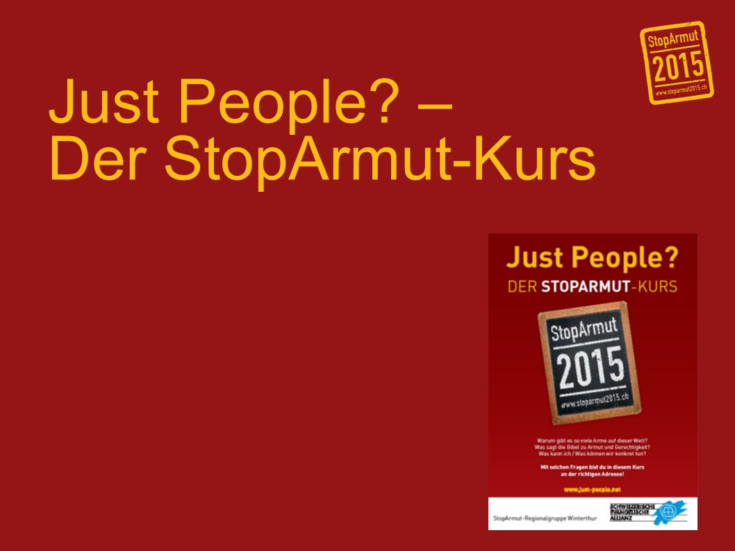 Just People – Der StopArmut-Kurs