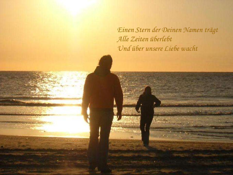 Einen Stern der Deinen Namen trägt Hoch am Himmelszelt Den schenk ich Dir heut Nacht
