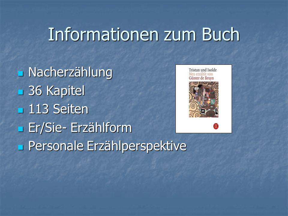 Informationen zum Buch Nacherzählung Nacherzählung 36 Kapitel 36 Kapitel 113 Seiten 113 Seiten Er/Sie- Erzählform Er/Sie- Erzählform Personale Erzählp
