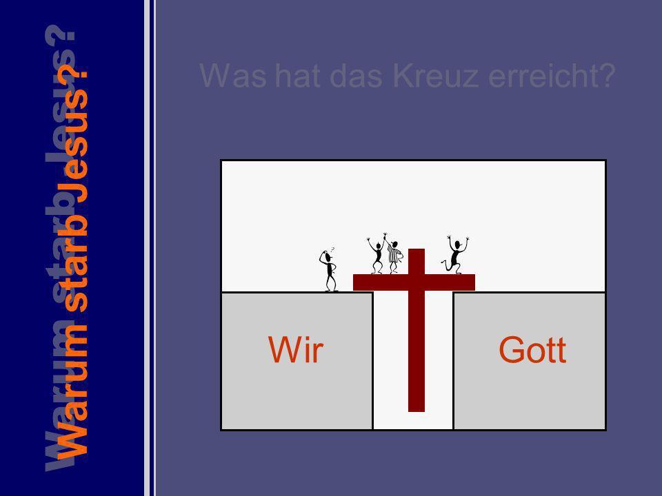 Warum starb Jesus? Was hat das Kreuz erreicht? WirGott