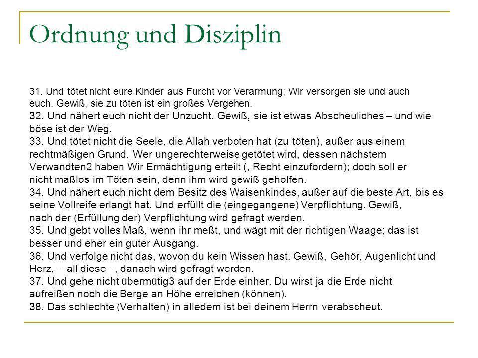 Ordnung und Disziplin 31.