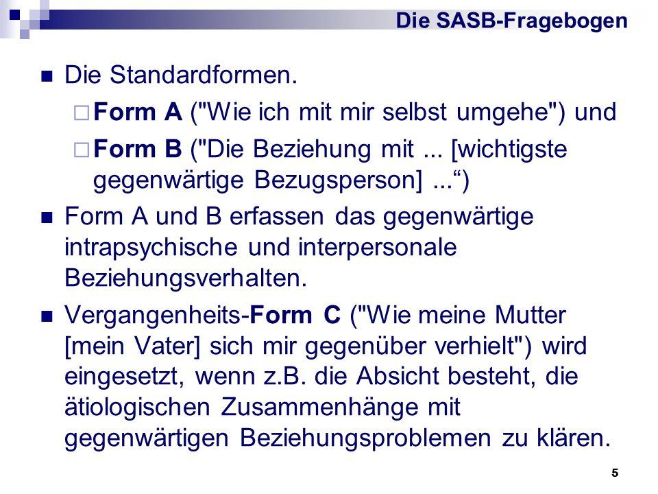5 Die Standardformen. Form A (