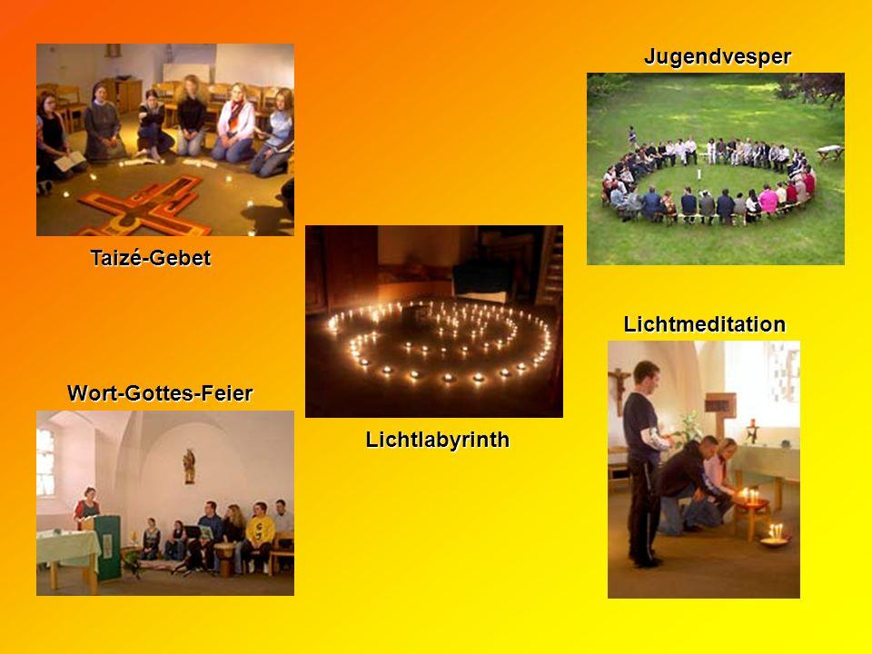 Taizé-Gebet Lichtlabyrinth Jugendvesper Lichtmeditation Wort-Gottes-Feier