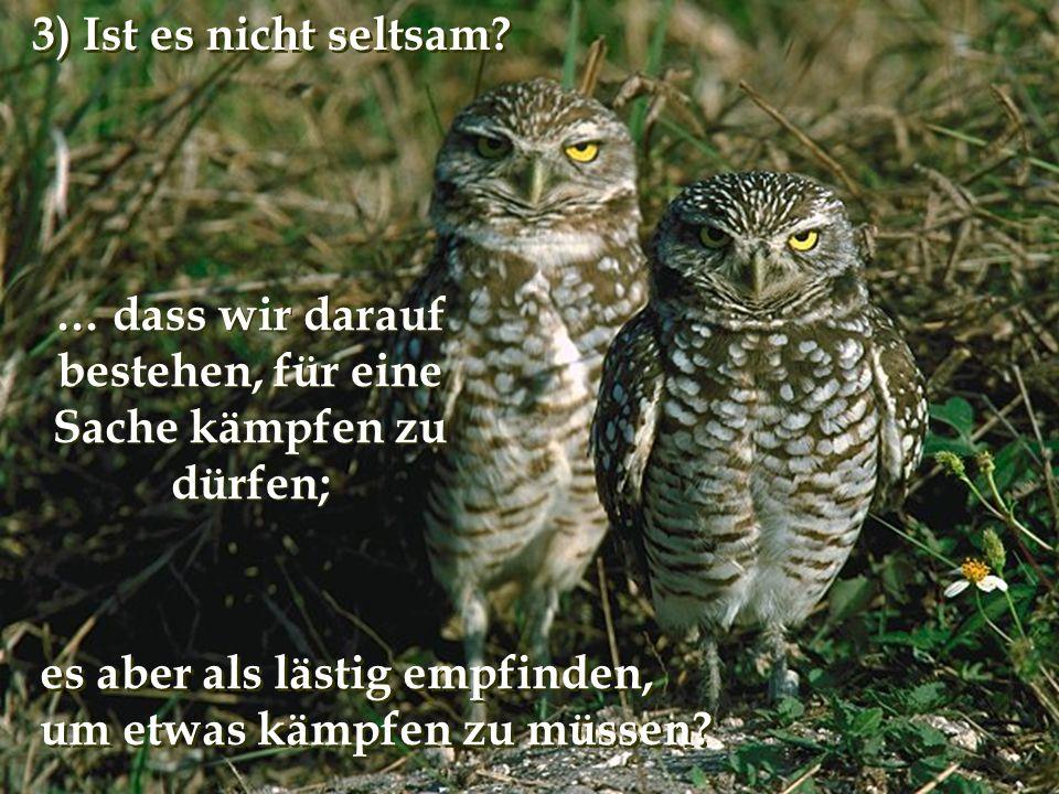 verteilt durch www.funmail2u.dewww.funmail2u.de … dass wir darauf bestehen, für eine Sache kämpfen zu dürfen; 3) Ist es nicht seltsam.
