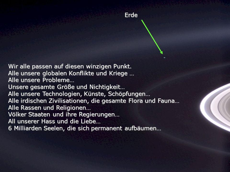 Betrachte einmal dieses Foto Es ist von der Sonde Cassini- Huygens gemacht worden, während sie sich den Saturn-Ringen näherte während sie sich den Sat