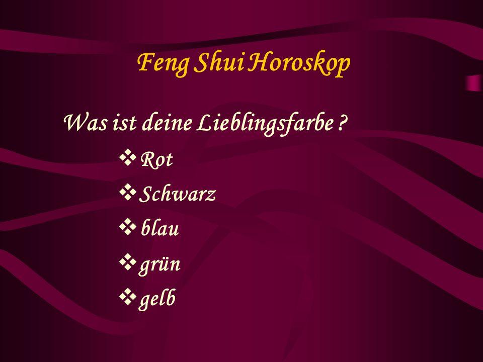 Feng Shui Horoskop Der Anfangsbuchstabe deines Vornamens?