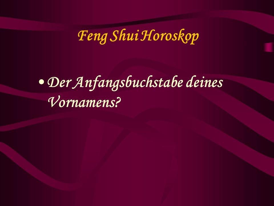 Feng Shui Horoskop 3.