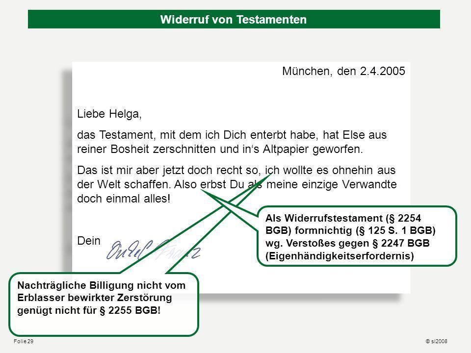 Hansemann kann sich nicht entscheiden … (BayObLG JuS 2003, 614) Von der Unterschrift räumlich nicht gedeckt! Von der Unterschrift räumlich gedeckt! Ze