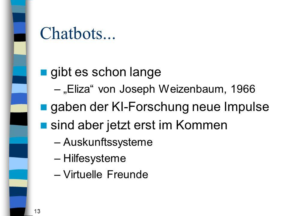 13 Chatbots...