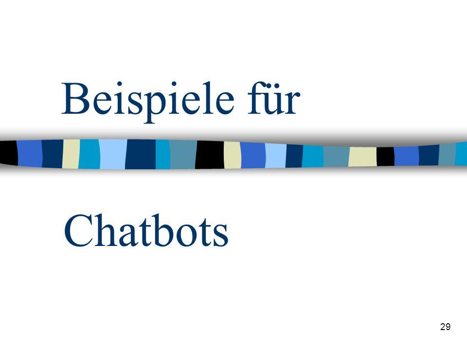 29 Beispiele für Chatbots