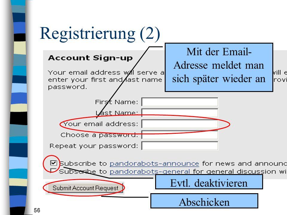56 Registrierung (2) Evtl.
