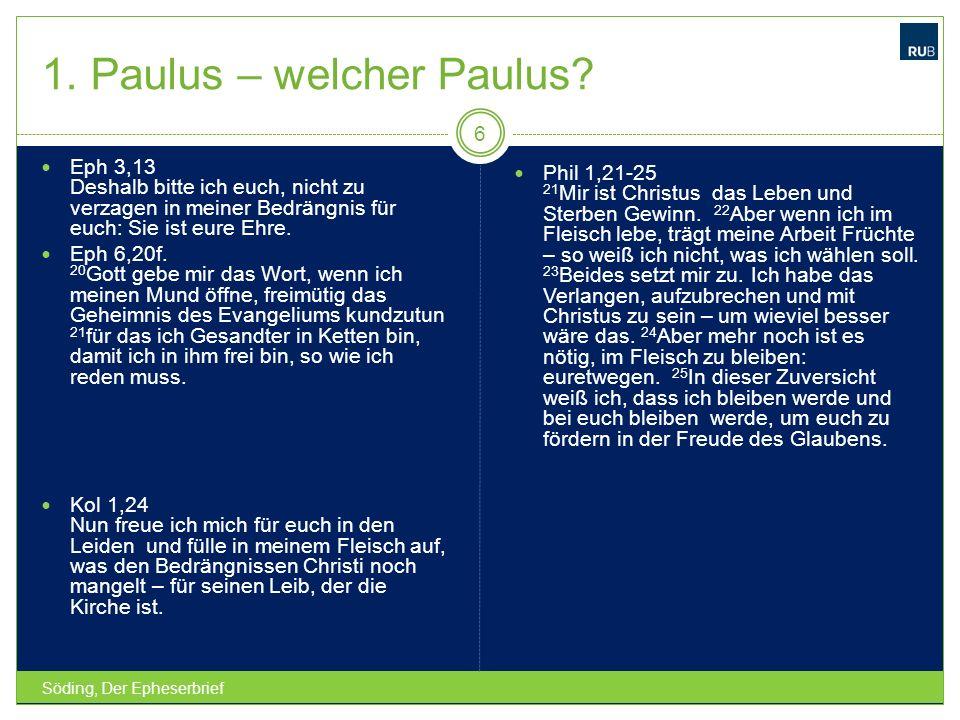 1.Paulus – welcher Paulus.