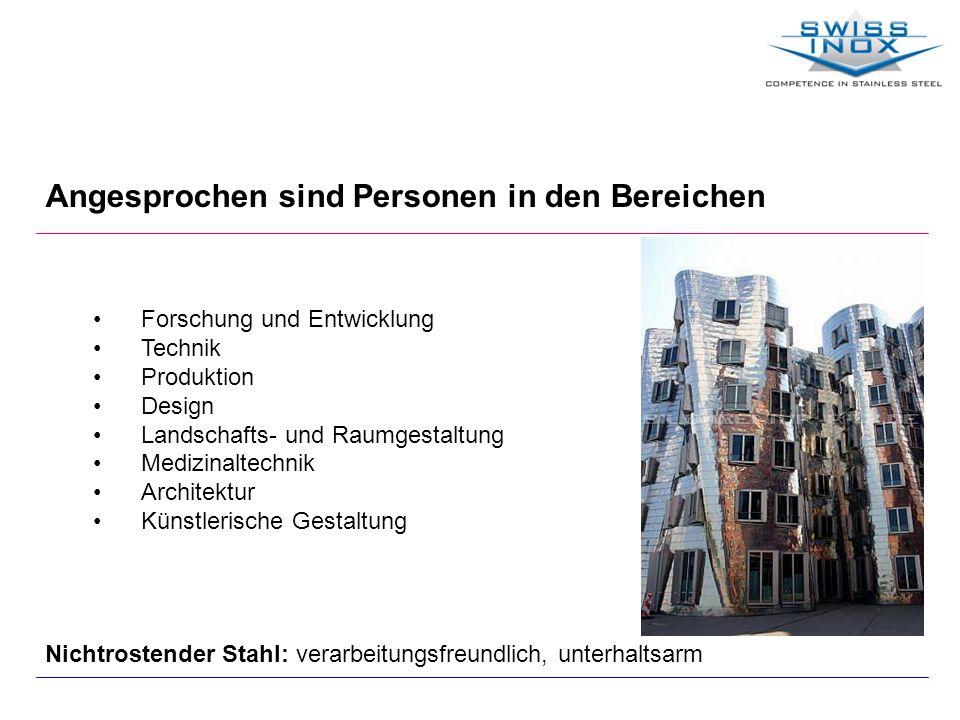 Angesprochen sind Personen in den Bereichen Forschung und Entwicklung Technik Produktion Design Landschafts- und Raumgestaltung Medizinaltechnik Archi