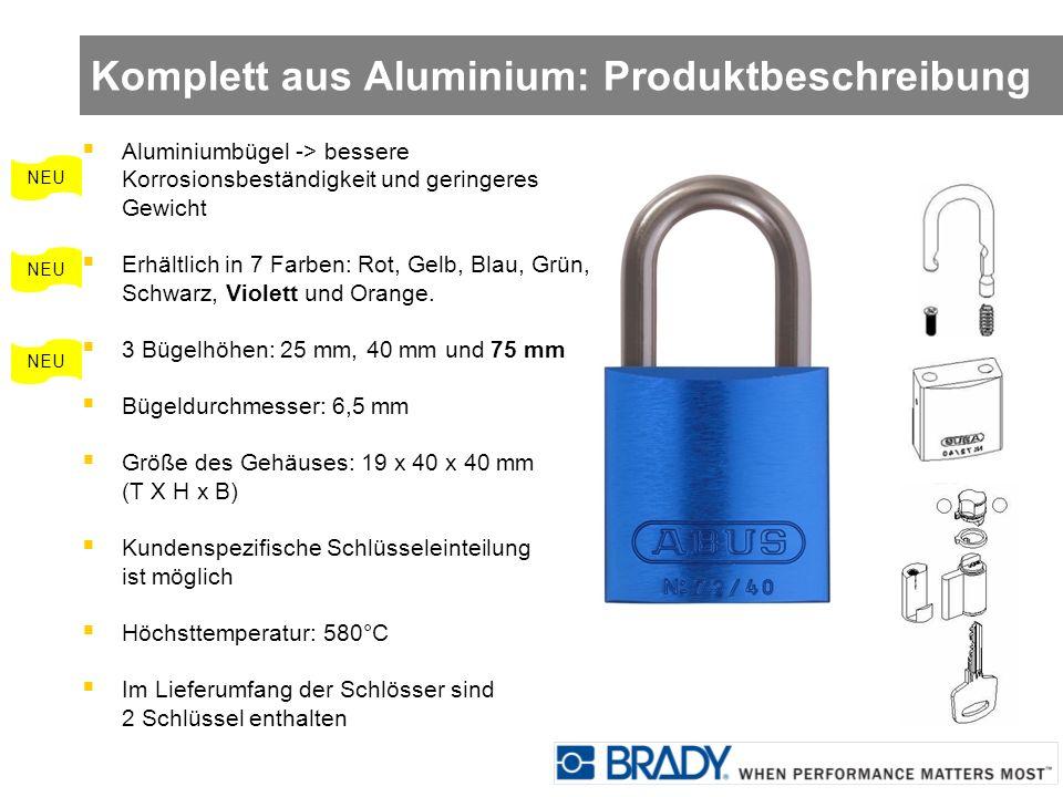 Komplett aus Aluminium: Produktbeschreibung NEU Aluminiumbügel -> bessere Korrosionsbeständigkeit und geringeres Gewicht Erhältlich in 7 Farben: Rot,