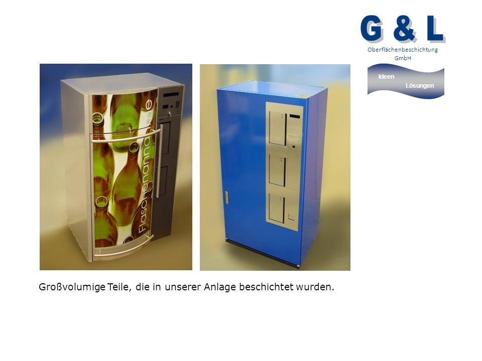 Ideen Lösungen Oberflächenbeschichtung GmbH Großvolumige Teile, die in unserer Anlage beschichtet wurden.