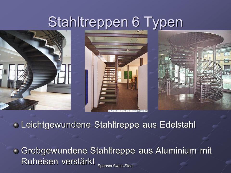Stahltreppen 6 Typen Leichtgewundene Stahltreppe aus Edelstahl Grobgewundene Stahltreppe aus Aluminium mit Roheisen verstärkt