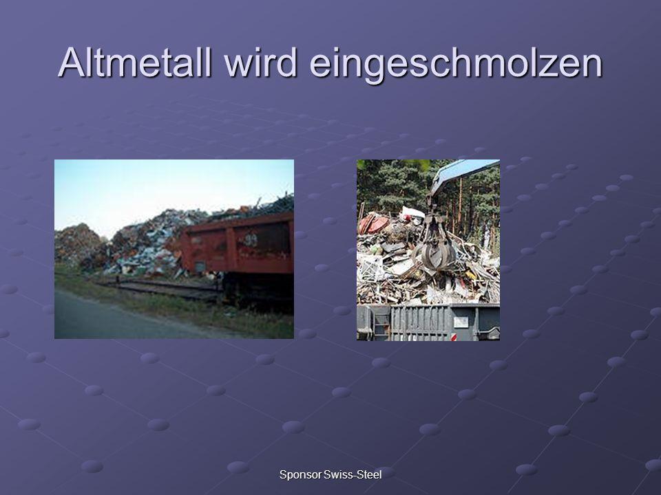 Sponsor Swiss-Steel Altmetall wird eingeschmolzen