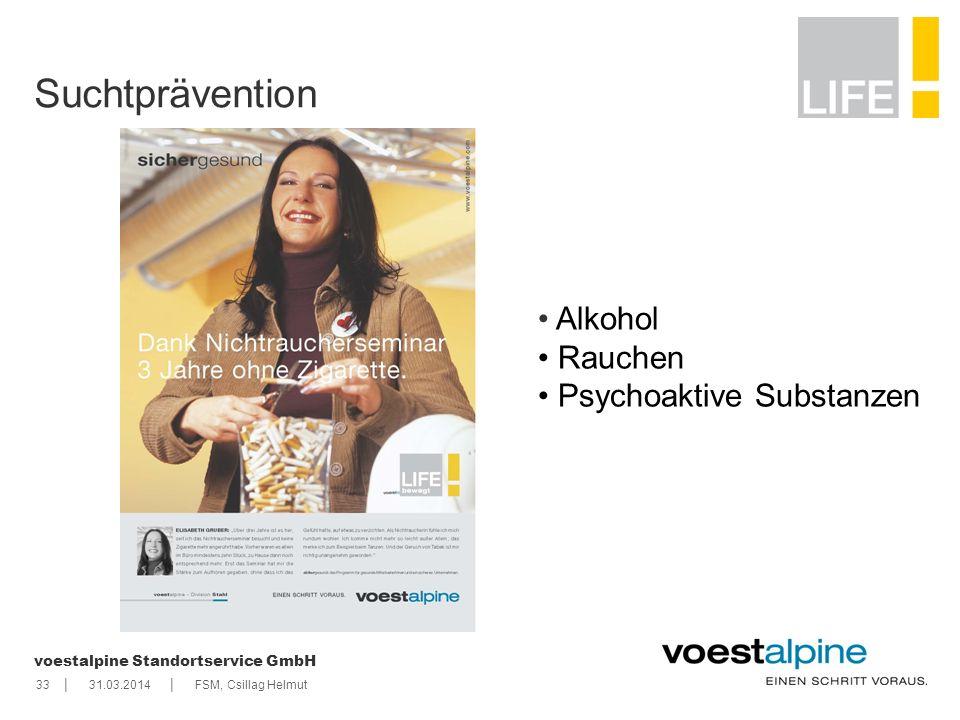    voestalpine Standortservice GmbH 3331.03.2014FSM, Csillag Helmut Suchtprävention Alkohol Rauchen Psychoaktive Substanzen