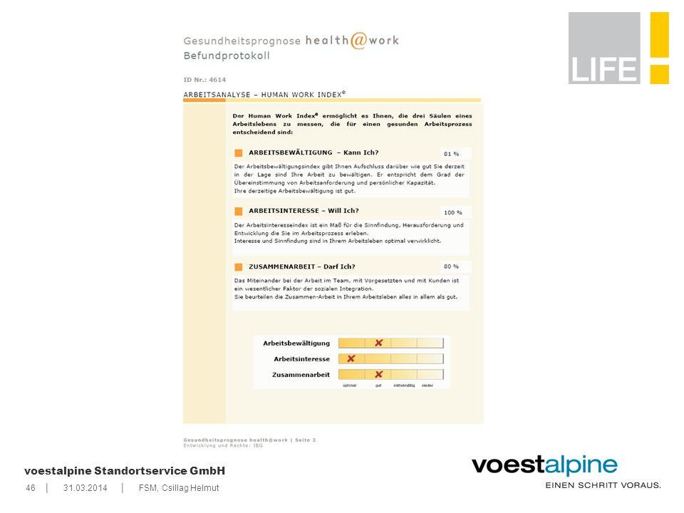    voestalpine Standortservice GmbH 4631.03.2014FSM, Csillag Helmut