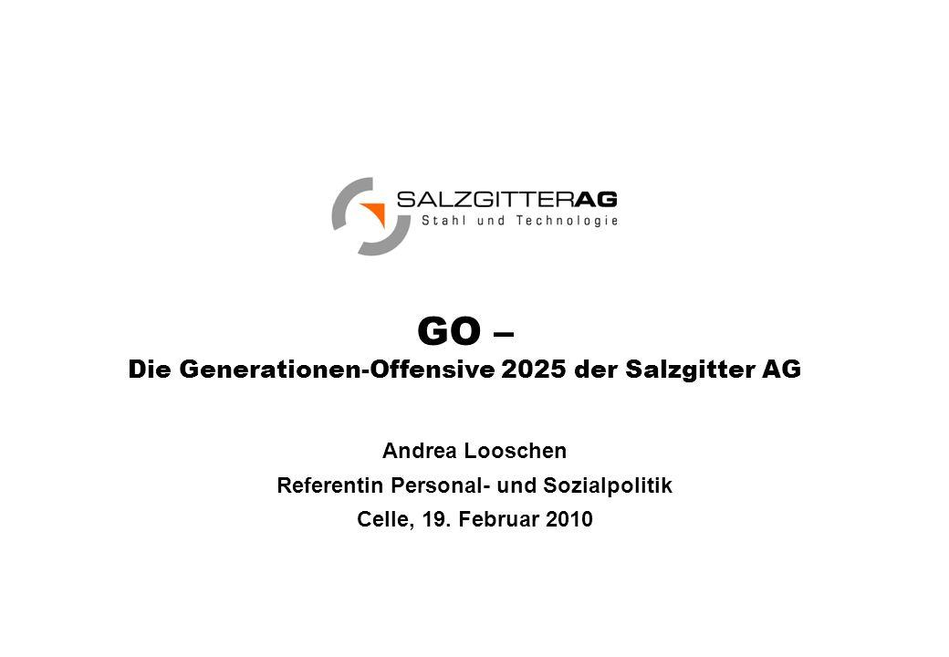 GO – Die Generationen-Offensive 2025 der Salzgitter AG Andrea Looschen Referentin Personal- und Sozialpolitik Celle, 19.