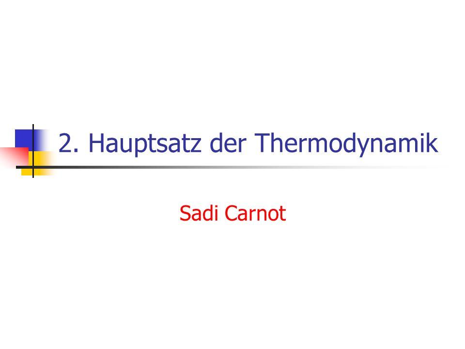 2. Hauptsatz der Thermodynamik Sadi Carnot