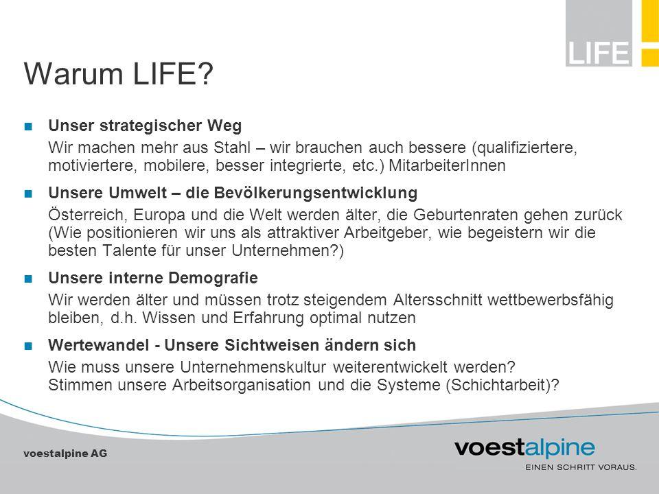 voestalpine AG Warum LIFE? Unser strategischer Weg Wir machen mehr aus Stahl – wir brauchen auch bessere (qualifiziertere, motiviertere, mobilere, bes