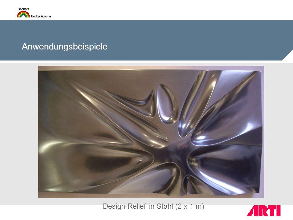 Anwendungsbeispiele Design-Relief in Stahl (2 x 1 m)