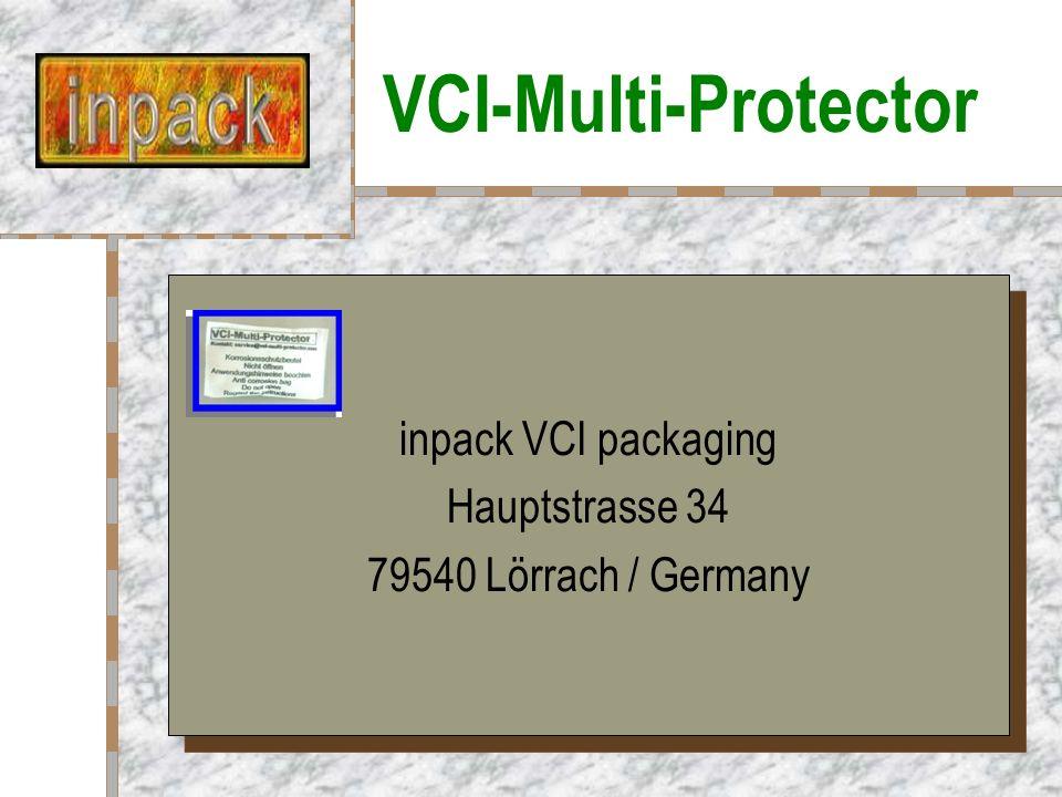 Stahl in Wasser VCI-Multi-Protector wirkt sogar in Wasser!
