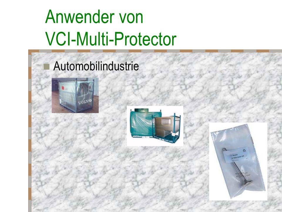 Anwender von VCI-Multi-Protector Automobilindustrie