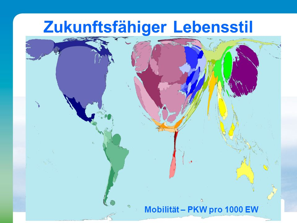 Zukunftsfähiger Lebensstil Mobilität – PKW pro 1000 EW