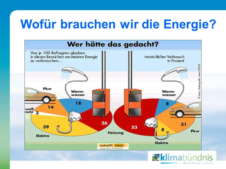 Wofür brauchen wir die Energie?
