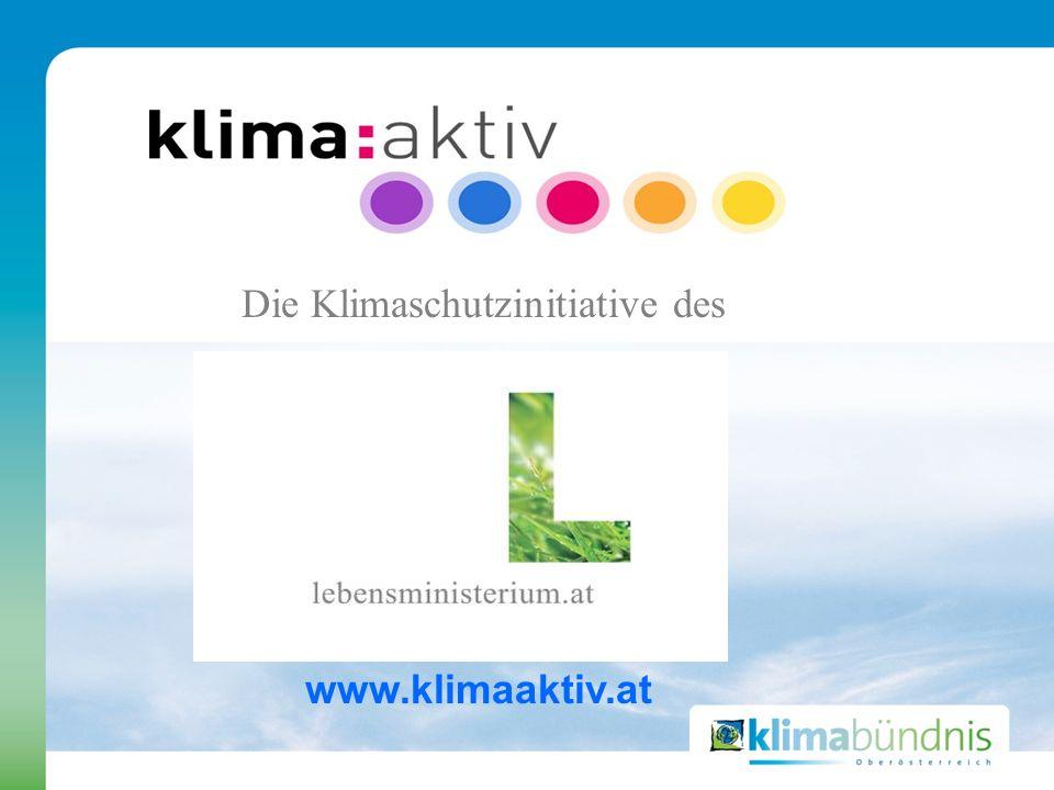 Die Klimaschutzinitiative des www.klimaaktiv.at