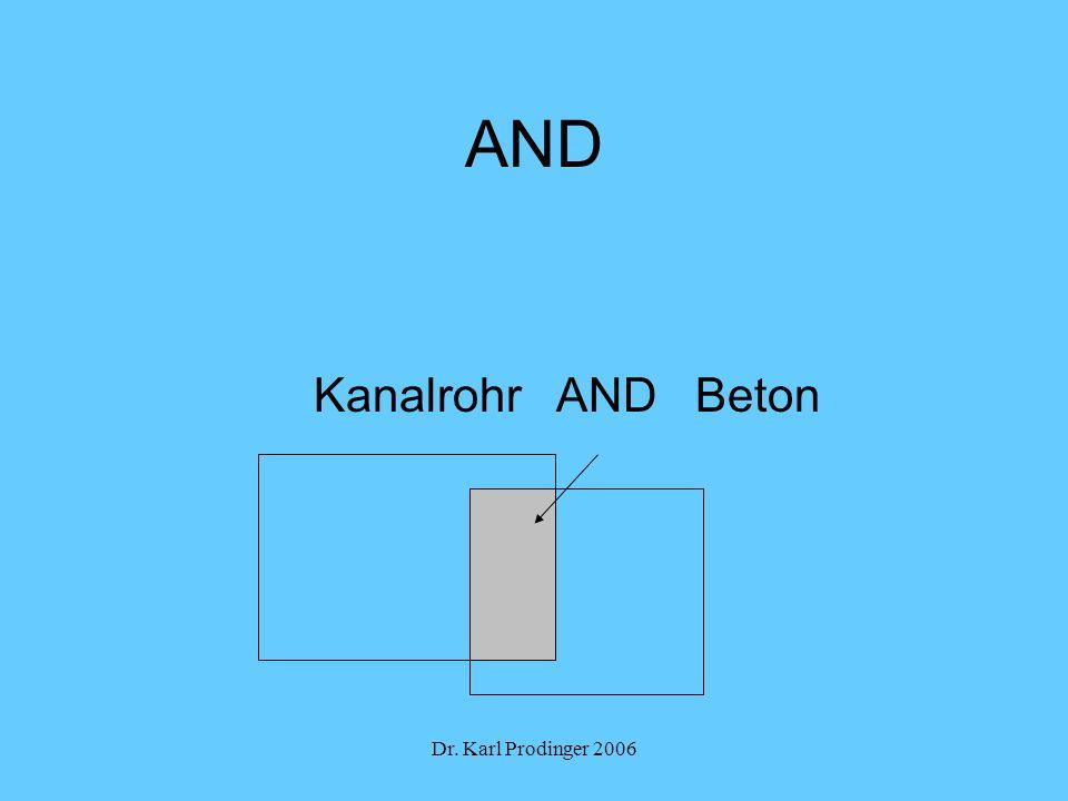 Dr. Karl Prodinger 2006 AND Kanalrohr AND Beton