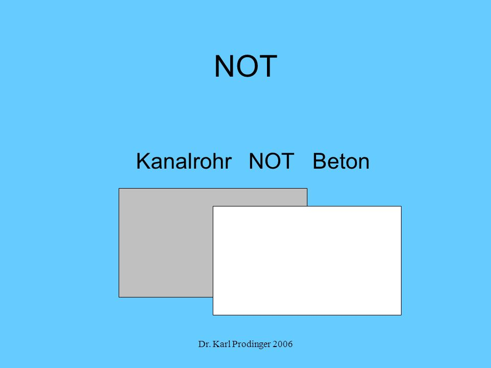 Dr. Karl Prodinger 2006 NOT Kanalrohr NOT Beton