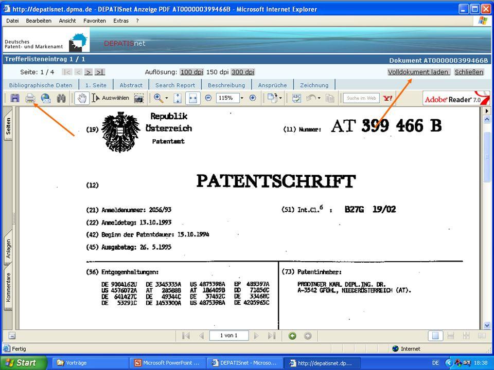Dr. Karl Prodinger 2006 Faksimile d. Patents