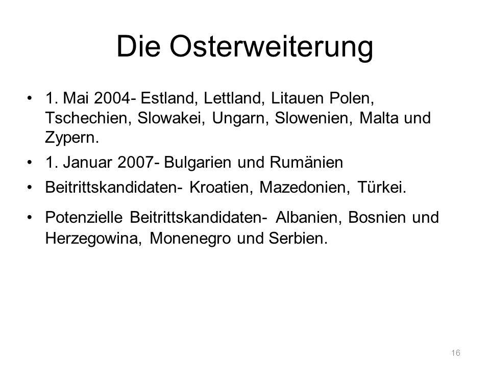 16 Die Osterweiterung 1.