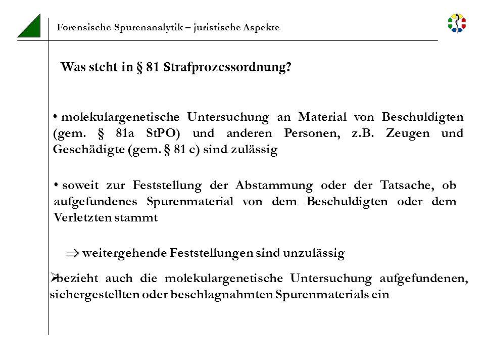Forensische Spurenanalytik – Exkurs Tiere Biologische Spuren umfassen nicht nur menschliches Material.