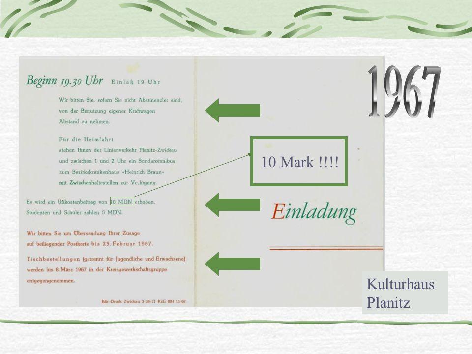 Kulturhaus Planitz 10 Mark !!!!