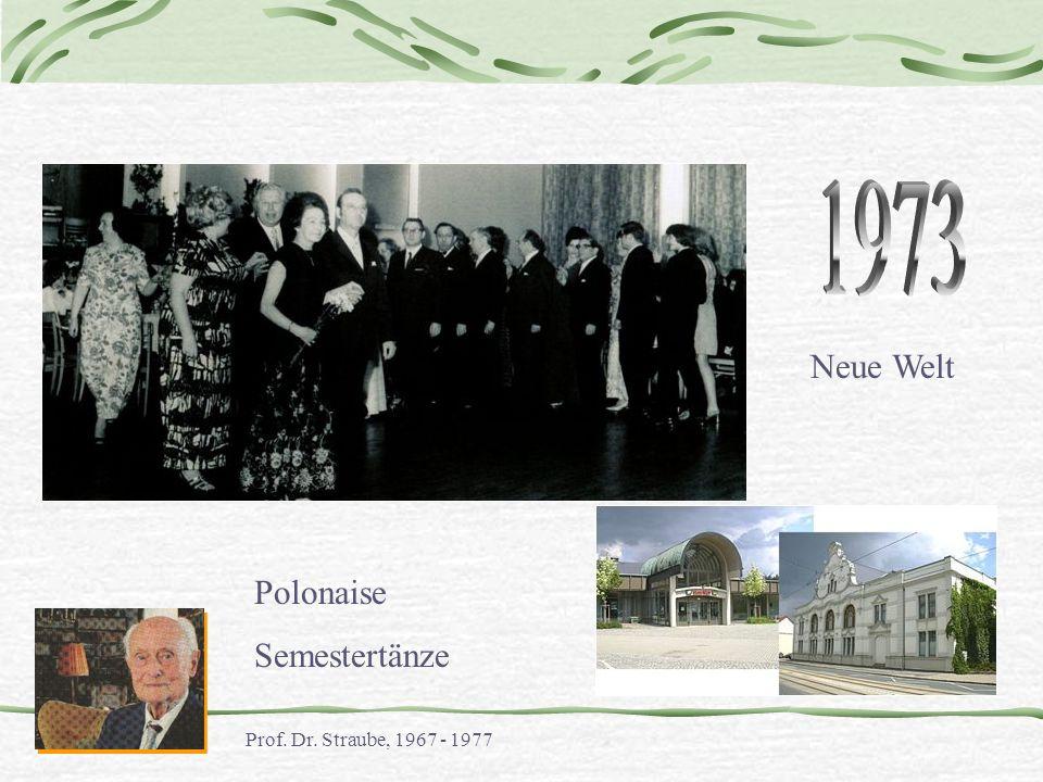 Neue Welt Polonaise Semestertänze Prof. Dr. Straube, 1967 - 1977