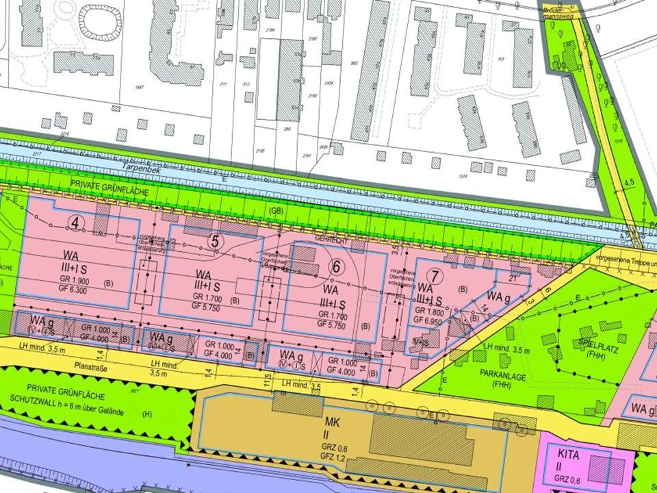 Erschütterungen Würde man für diese Wohngebiete hinsichtlich der Erschütterungen den Schutzanspruch entsprechend der DIN 4150 formulieren, würden aller Voraussicht nach besonders aufwendige und anspruchsvolle elastische Gebäudelagerungen (z.B.