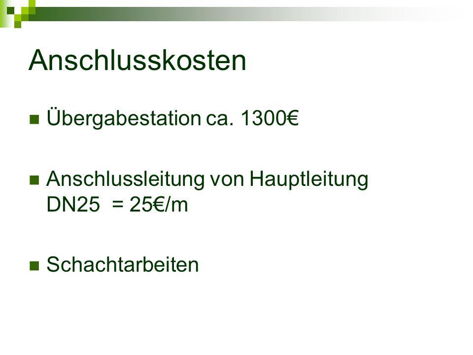 Anschlusskosten Übergabestation ca.