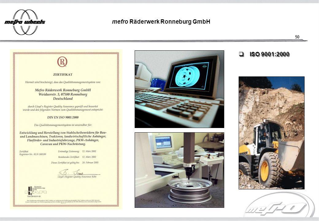 50 mefro Räderwerk Ronneburg GmbH ISO 9001:2000