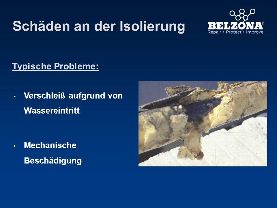 Schäden an der Isolierung Typische Probleme: Verschleiß aufgrund von Wassereintritt Mechanische Beschädigung