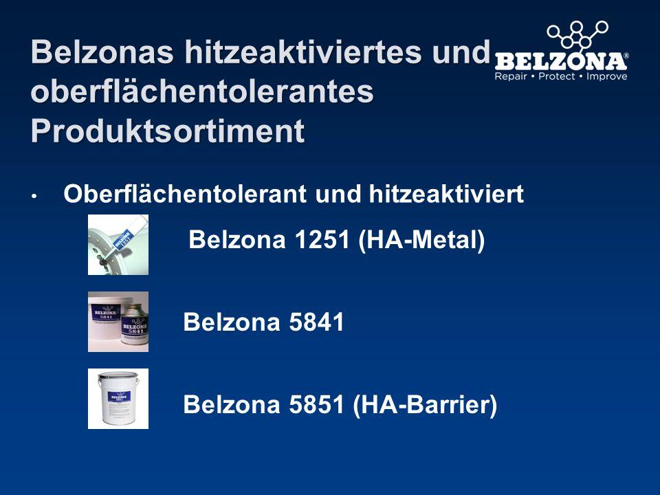 Belzonas hitzeaktiviertes und oberflächentolerantes Produktsortiment Oberflächentolerant und hitzeaktiviert Belzona 1251 (HA-Metal) Belzona 5841 Belzo