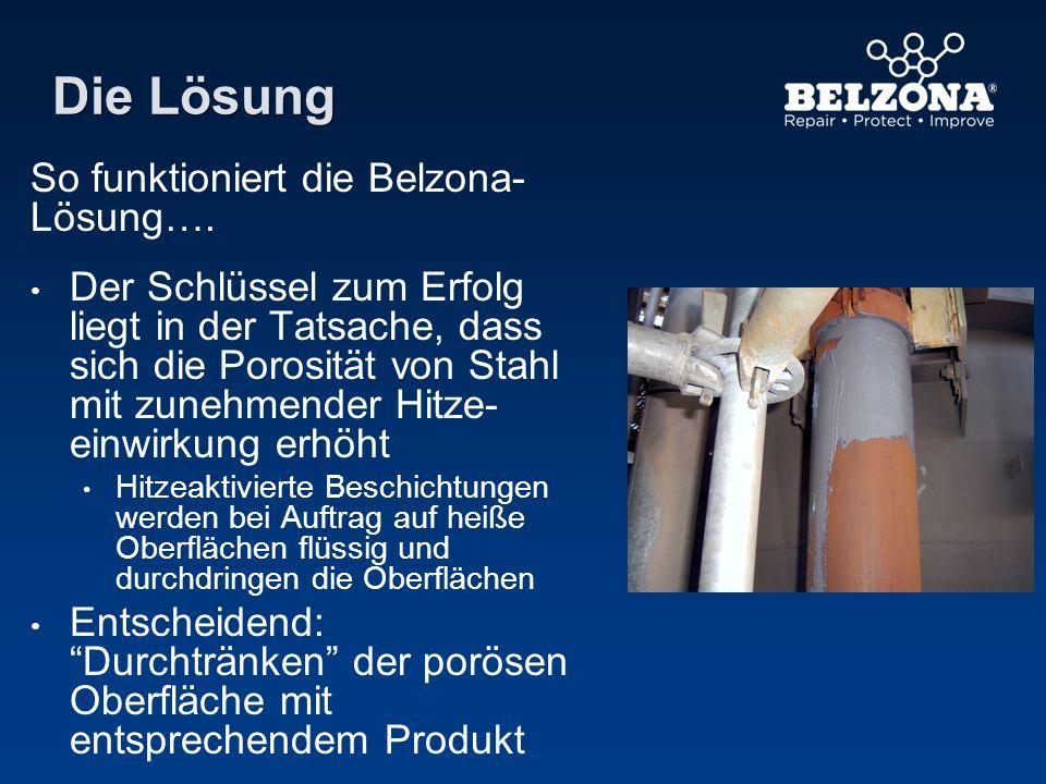 Die Lösung So funktioniert die Belzona- Lösung…. Der Schlüssel zum Erfolg liegt in der Tatsache, dass sich die Porosität von Stahl mit zunehmender Hit