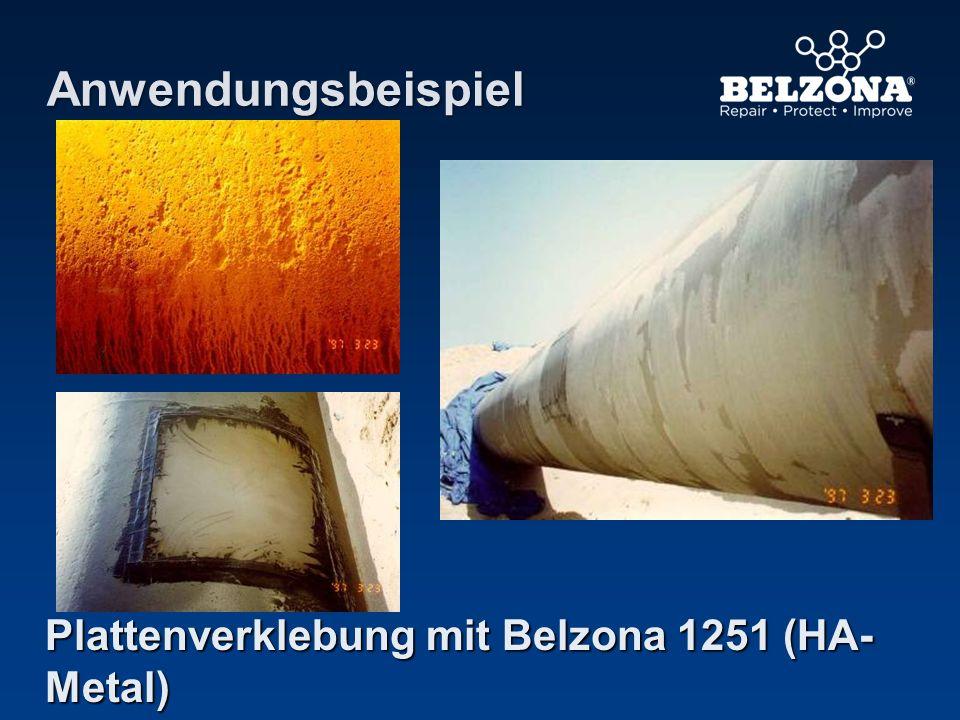 Plattenverklebung mit Belzona 1251 (HA- Metal) Anwendungsbeispiel