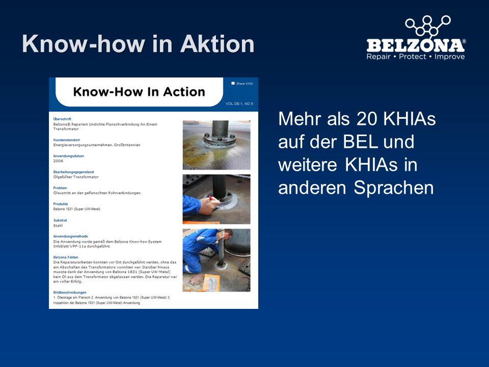 Know-how in Aktion Mehr als 20 KHIAs auf der BEL und weitere KHIAs in anderen Sprachen