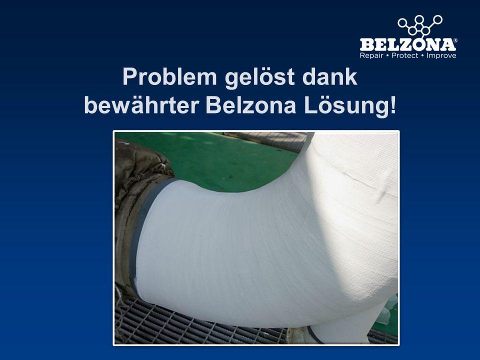 Problem gelöst dank bewährter Belzona Lösung!